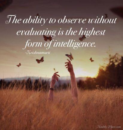 observe without evaluate krishnamurti