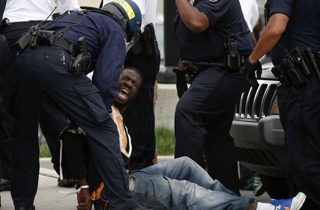 black man police