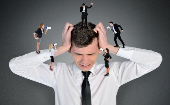 45898562 - young business man headache scream